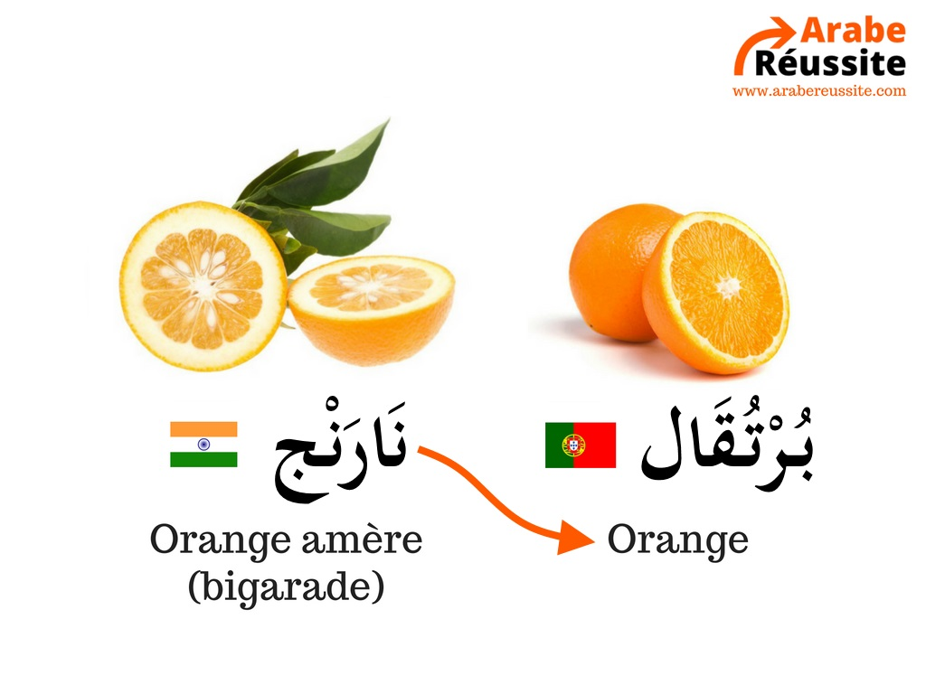 L'origine du mot orange en arabe